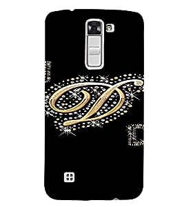 PrintVisa D Letter Bling Design 3D Hard Polycarbonate Designer Back Case Cover for LG K7