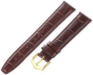 Voguestrap TX45318HN Allstrap 18mm Honey Regular-Length Tile Crocodile Calf Watchband, Gold buckle