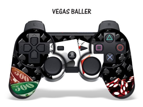 247skins Protective Skin For Playstation 3 Remote Controller - Vegas Baller Black