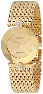 Jowissa Women's J5.010.M Facet Strass Gold PVD Dimensional Glass Rhinestones Watch