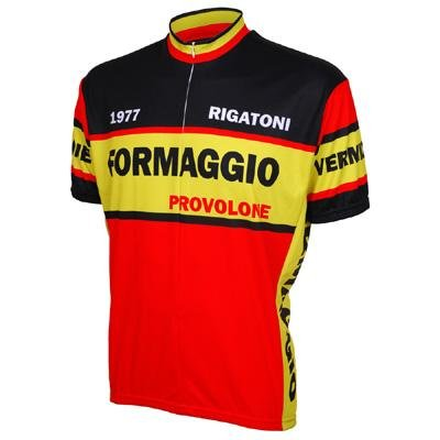 Image of World Jersey's Formaggio 1977 Short Sleeve Cycling Jersey (B005LRSA4A)