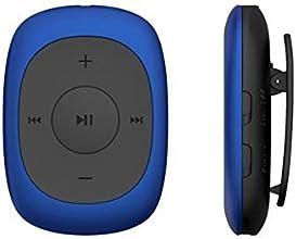AGPTek Badge Lecteur MP3 8Go boutons indépendants Portable de Clip du joueur avec Radio FM supportant les formats MP3, WMA WAV (Bleu)