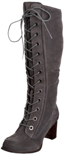Hush Puppies Women's Ember Smoke Waxy Suede Knee High Boots H2613196S 5 UK