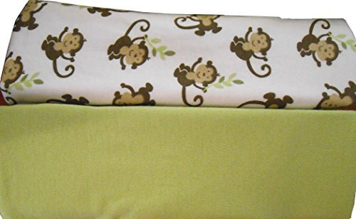 Garanimals SwaddleMe Original 2-Pack Small, Monkey Vine (Green) - 1