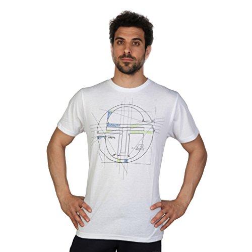 Sergio Tacchini - Carleton - T-Shirt moderna a maniche corte - Uomo (XL) (Bianco/Nero)