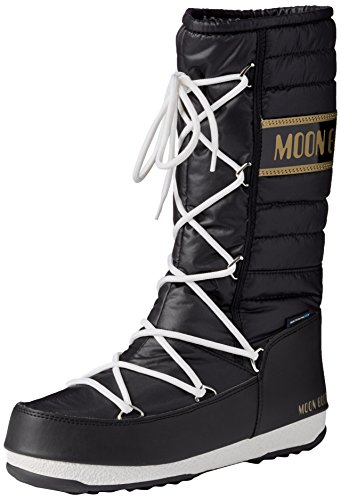 Moon Boot W.E. Quilted, Stivali, Unisex - adulto, Multicolore (Nero/Oro), 41
