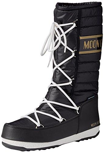 Moon Boot W.E. Quilted, Stivali, Unisex - adulto, Multicolore (Nero/Oro), 41