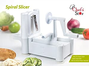 Chef's Star Spiralizer Omni-Blade Spiral Vegetable Slicer , Peeler & Shredder by Chefs Star�