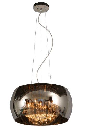 Lucide Pearl Hangeleuchte Höhe 130 cm, Durchmesser 40 cm, 5x G9/40 W, raindrops/ chrom 70463/40/11