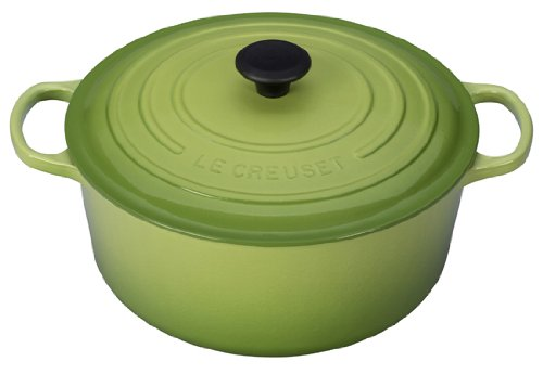 Le Creuset Signature Enameled Cast-Iron 9-Quart Round French (Dutch) Oven, Palm (Small Green Dutch Oven compare prices)