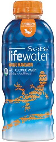SoBe Lifewater Mango Mandarin with Coconut Water, 20 oz. (Pack of 12)