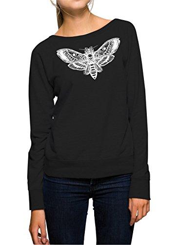 Skull Moth Sweater Girls Nero Certified Freak-M