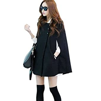 Imixcity Women's Poncho Cape Wool Cloak Coat