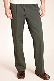Pleat Front Chinos with Stormwear+ [T17-6333B-S]