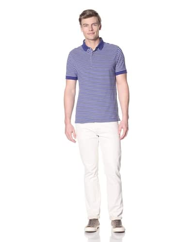 Façonnable Men's Stripe Polo  [Royal]