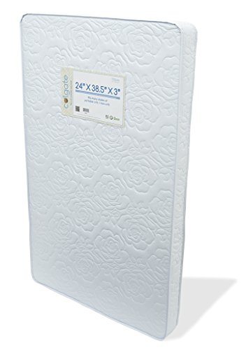 "Colgate Portable Mattress - 24"" x 38.5"" x 3"" Rectangular Foam Pad with Waterproof White Quilted Cover"