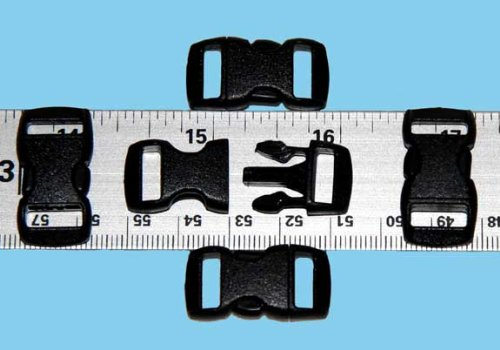 Best Price! 20 - 3/8 Contoured National Molding Plastic Buckles