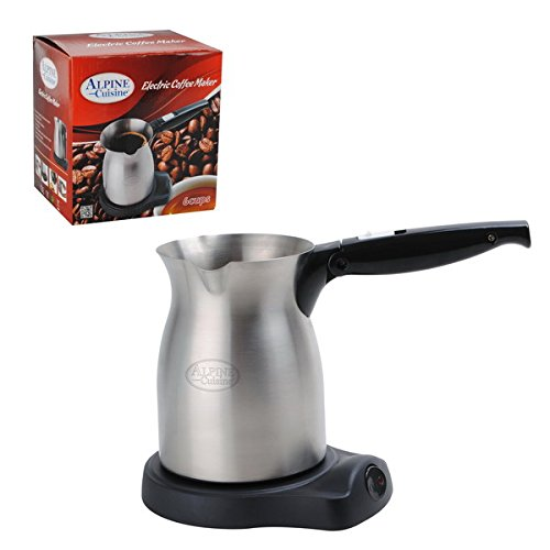 Electric Turkish Coffee Maker Kettle Hotpot 6 Cups Alpine Cuisine
