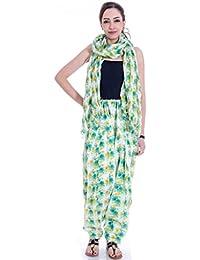 Om Prints Multi Colour Women's Patiala And Dupatta Set Of 1 ( Free Size) - B01MSB241K