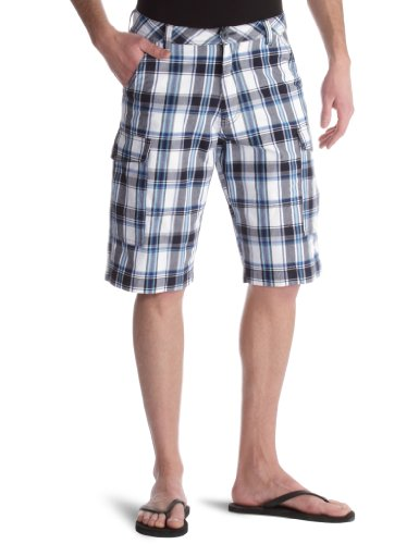 Wrangler Basic Check Men's Shorts Navy W30 IN
