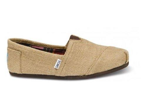 TOMS Men's Classic Woven Slip-On,Burlap,8 M