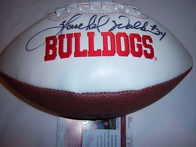 Herschel Walker Georgia Bulldogs Jsa/hologram Signed Football - Autographed College Footballs