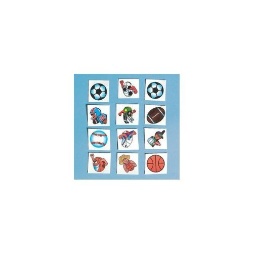 Football Glitter Tattoos (216 Pieces) - Bulk - 1