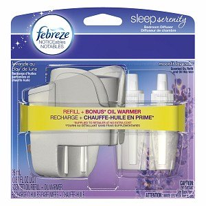Febreze Sleep Serenity Bedroom Diffuser, Noticeables, Moonlit Lavender, .87 Oz