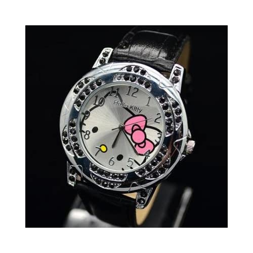 Miss Peggy Jos   Hello Kittys KT24b Quartz Movement Watch**Comes with a Big Bling Hello Kitty Necklace***2 3 Days From Order to Your Door***