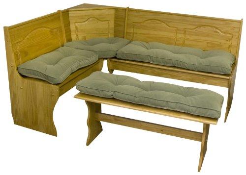 1greendale Home Fashions 4 Piece Nook Cushion Set Hyatt Moss