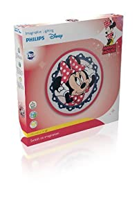 2 X Philips Disney Minnie Mouse Children's Wall and Ceiling Light - 1 x 7.5 W Integrated LED from Philips