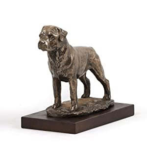 Amazon.com - Rottweiler, Dog Figure, Statue on Woodenbase, Limited