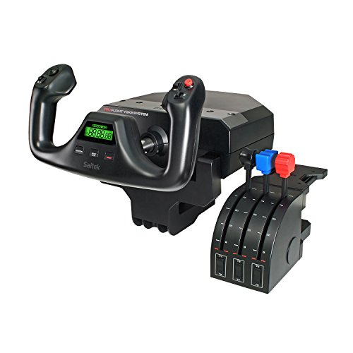 Saitek Joystick Pro Flight Yoke System 14 boutons de contrôle Pro Flight Throttle Quandrant inclus