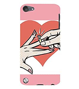 99Sublimation Engagement Ring 3D Hard Polycarbonate Back Case Cover for Apple iPod Touch 6