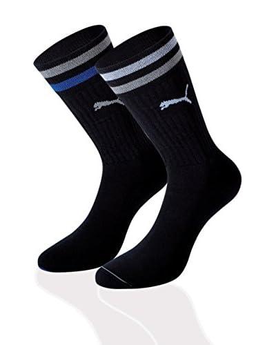 Puma 12tlg. Set Socken Clyde schwarz