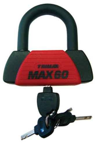 Trimax MAX60 Red Short Shackle U-Lock with PVC Sleeve