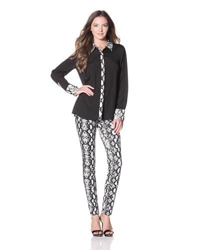 Calvin Klein Sportwear Women's Combo Placket Blouse