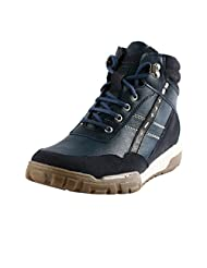 Bacca Bucci Men 8500 Blue Synthetic Boots