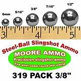 319 pack 3/8' Steel-Ball slingshot ammo (2-1/2 lbs)