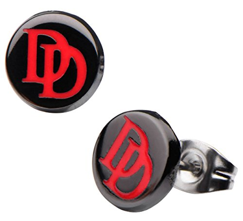 marvel-daredevil-logo-round-enamel-earrings