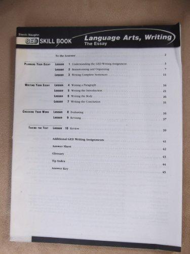 GED Skill Books: Workbook Language Arts, Writing: Essay (Steck-Vaughn Ged Skill Books)