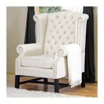 Big Sale Baxton Studio Sussex Beige Linen Club Chair, Set of 2