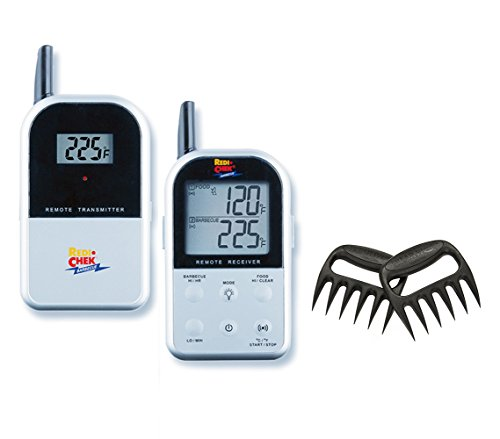 Find Discount Maverick Wireless Barbecue Thermometer - Silver ET732 - Includes Bear Paw Meat Handler...