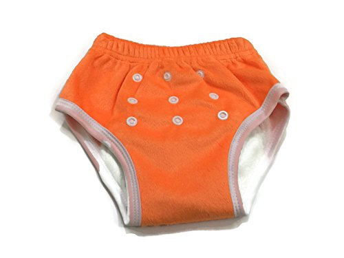 BB2 Soft Baby Toddler Potty Toilet Training Reusable Bamboo Pants (One Size (14lbs to 32lbs), Orange)