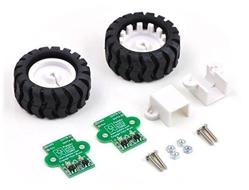 Pololu Robotics & Electronics - 1218 - 42x19mm Wheel Set Includes Encoder from POLOLU ROBOTICS & ELECTRONICS