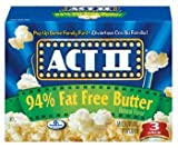Act ll 94% Fat Free Butter Natural Flavor Popcorn 8.14 oz