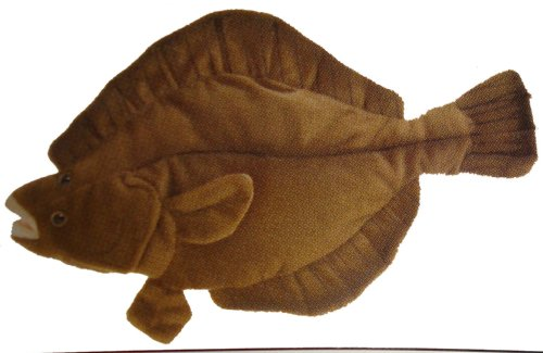 "Flounder 10"" Stuffed Plush Animal - Cabin Critters Saltwater Fish Collection"