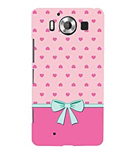 Little Heart Design 3D Hard Polycarbonate Designer Back Case Cover for Nokia Lumia 950 :: Microsoft Lumia 950