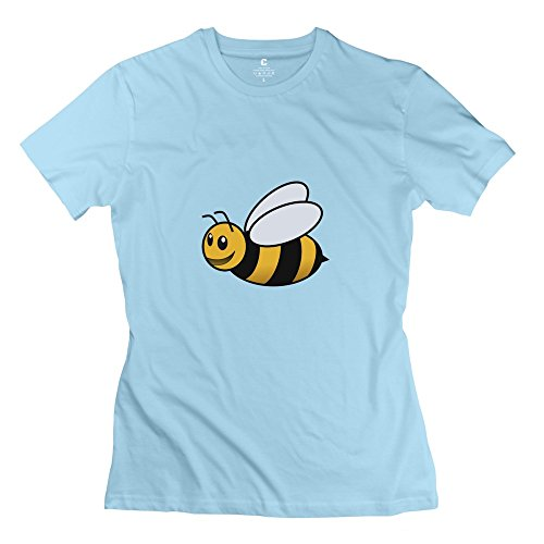 Vintage Bumble Bee Fly Insect T-shirt Create My Own For Ladies SkyBlue