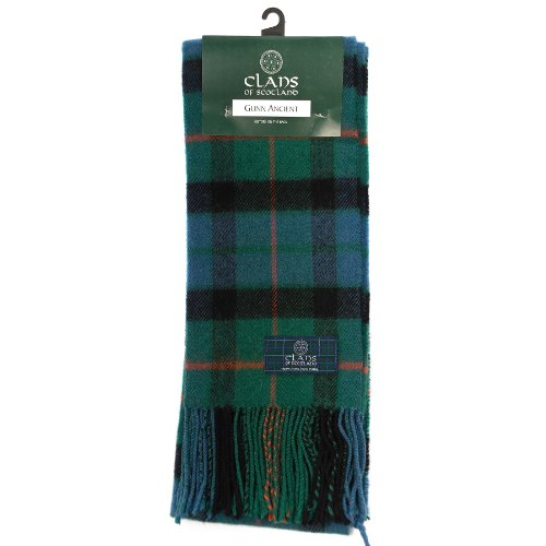 clans-of-scotland-pure-new-wool-scottish-tartan-scarf-gunn-ancient-one-size